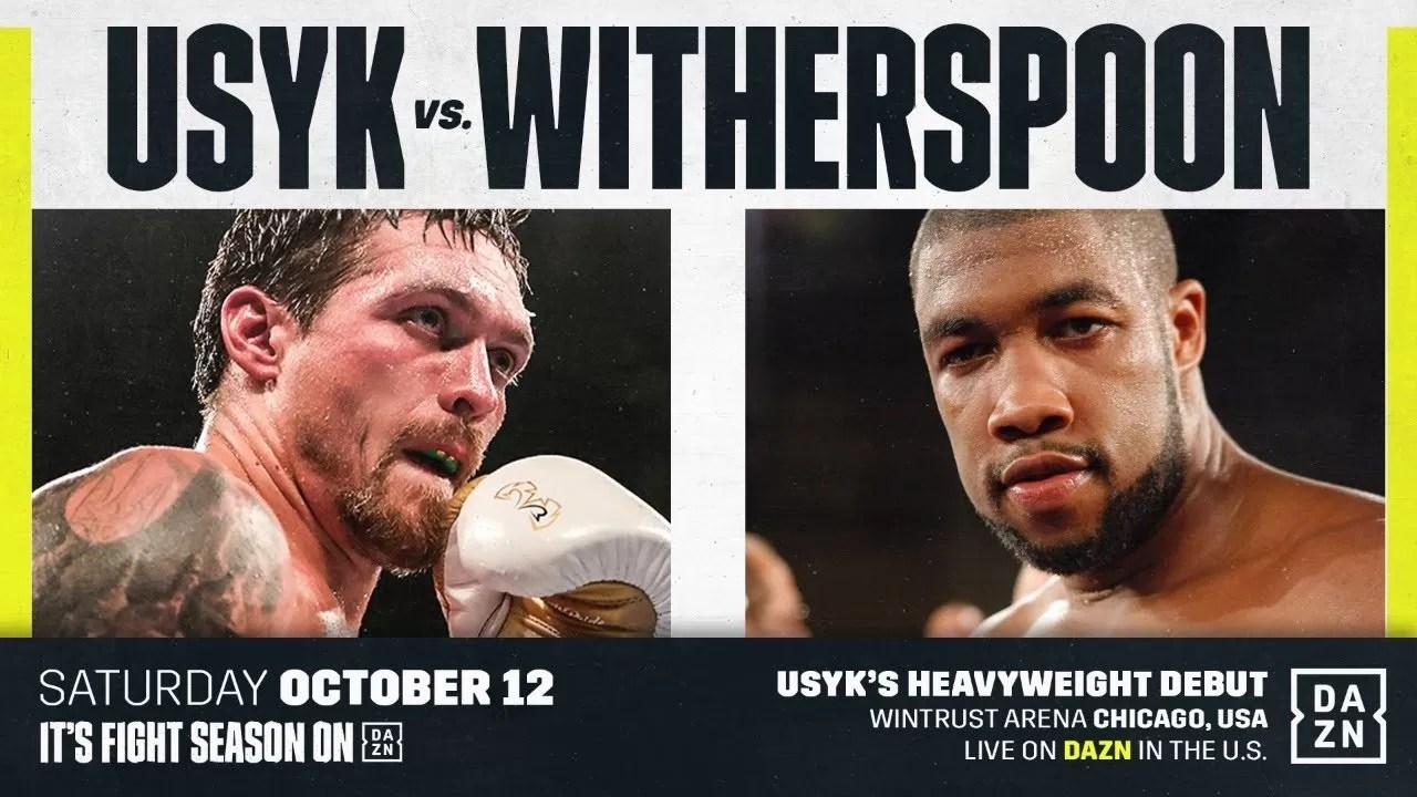 noticias boxeo, usyk vs witherspoon, sabado 12 octubre
