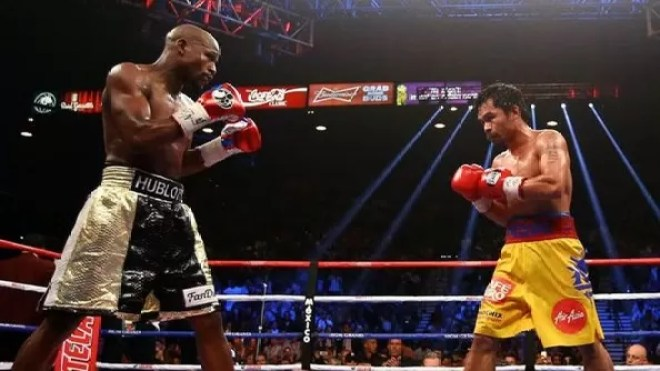mayweather vs pacquiao, combate del sigo, fotos y video resumen