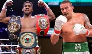 noticia boxeo usyk quiere pelear contra Joshua como aspirante oficial
