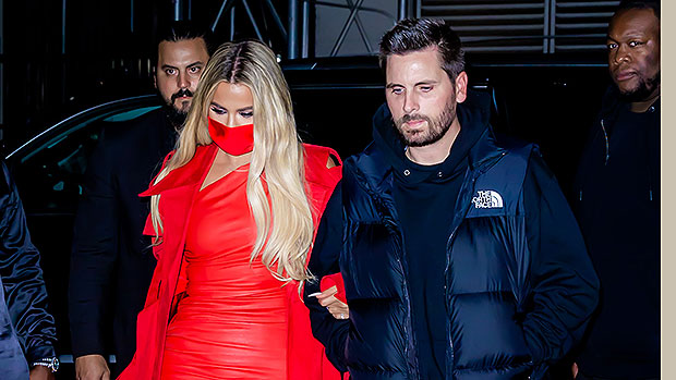 Khloe Kardashian Is Red Hot In Leather Mini Dress For 'SNL' After Party With Scott Disick – Photos