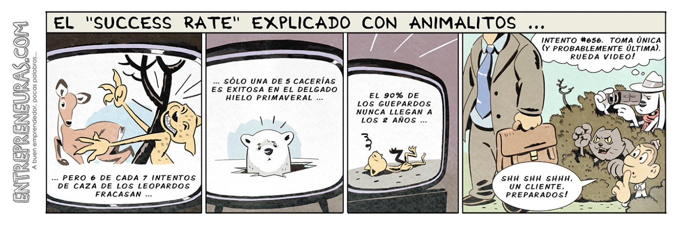 El Success Rate explicado con animalitos - Entrepreneuras.com