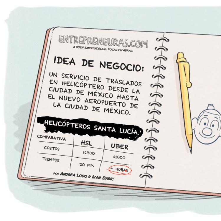 Idea de Negocio: Helicópteros Santa Lucía - Entrepreneuras.com