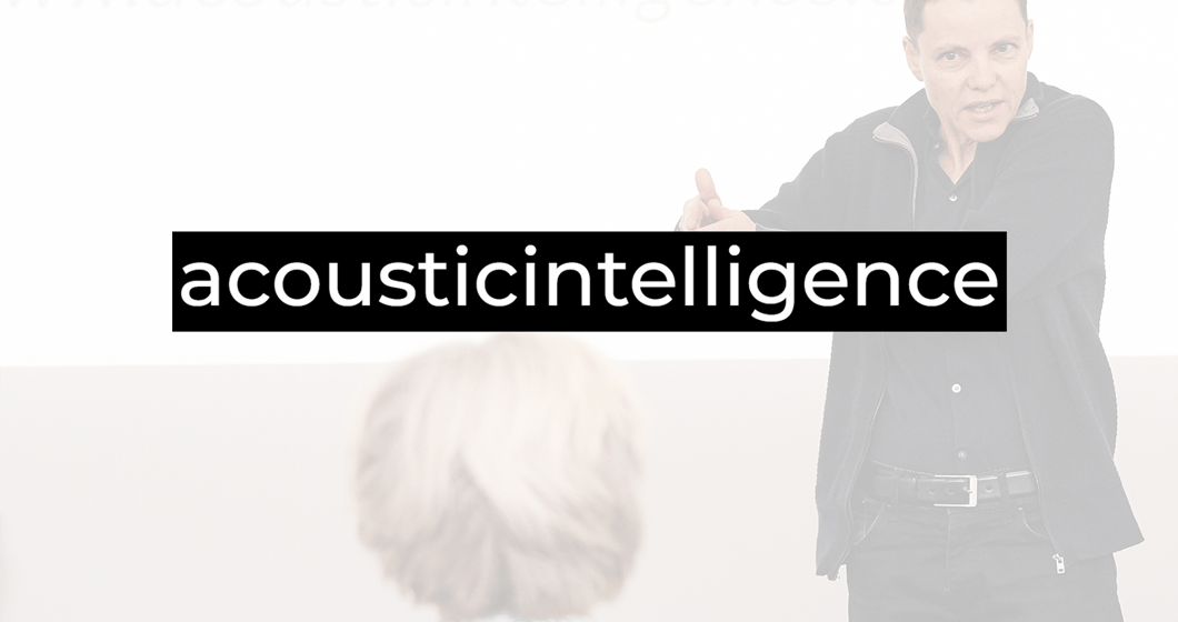 Acoustic Intelligence