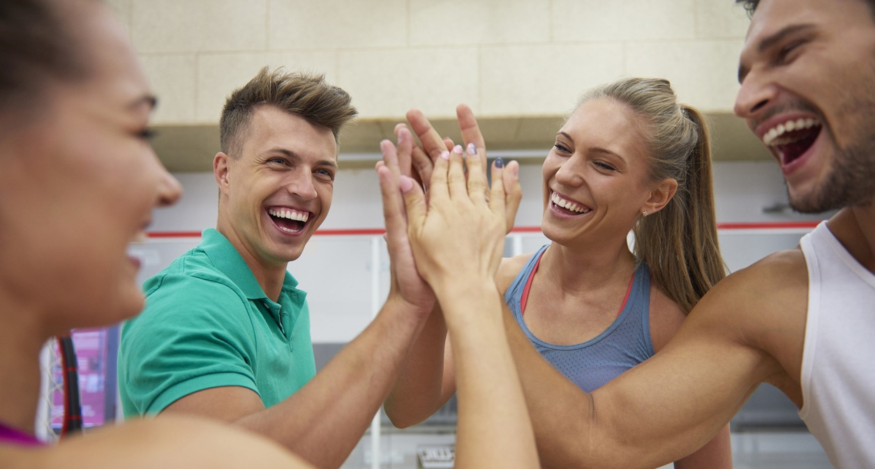 Sport d'équipe entre collègues