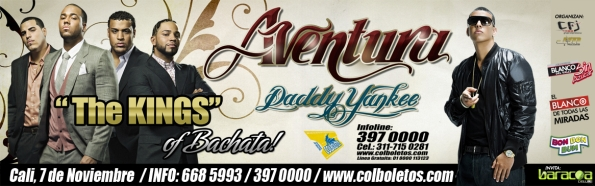 Daddy Yankee & Aventura en Cali