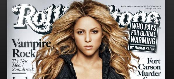 Shakira portada revista Rolling Stones noviembre 2009