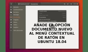 Documento nuevo, agrega la opción al menú contextual en Ubuntu18.04