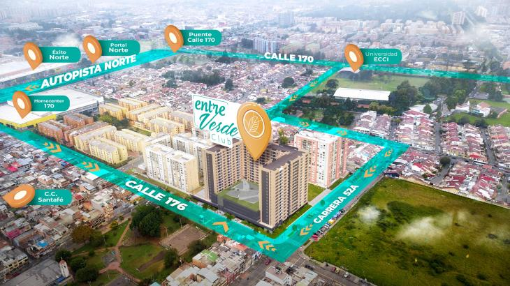 Ubicación proyecto Entre Verde Club
