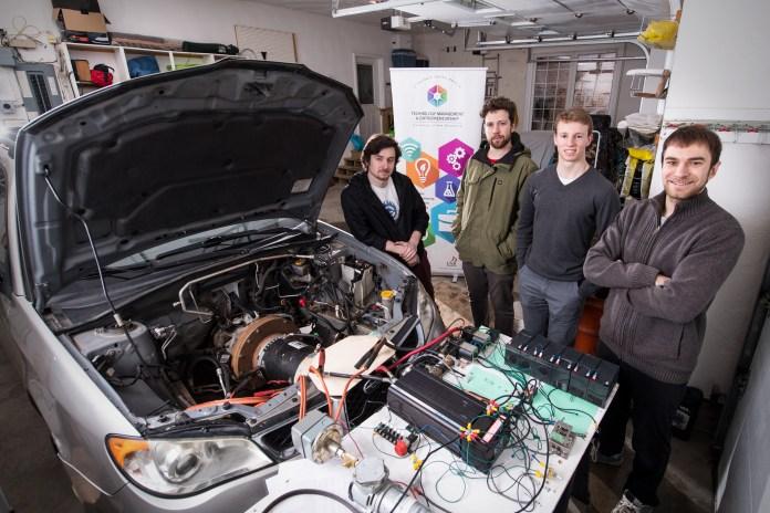 unb displays electric car conversion | entrevestor
