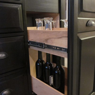Changing Table Repurposed into a Wine Bar