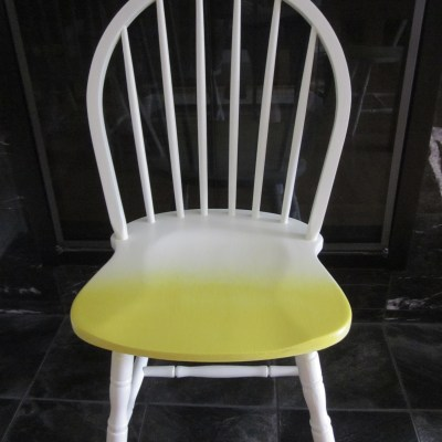 White & Lemon Yellow Ombre Chairs