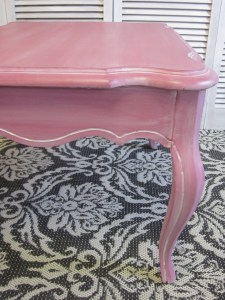 Pink French side table