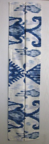 Sidelight Curtain Blue White Ikat