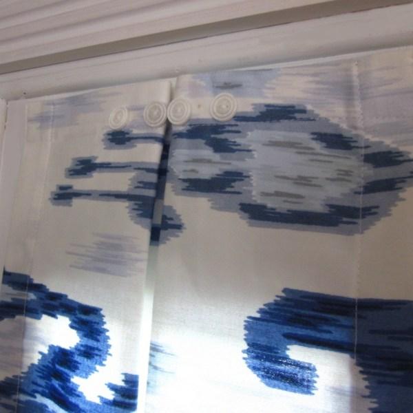 Blue White Ikat