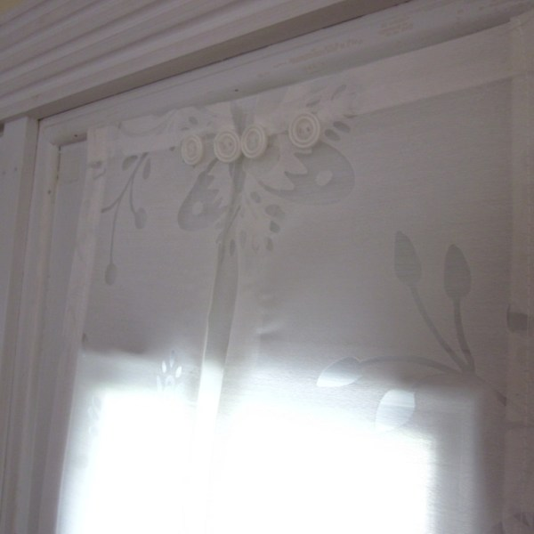 Sidelight Window Panel White Flower