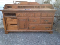 old world sideboard