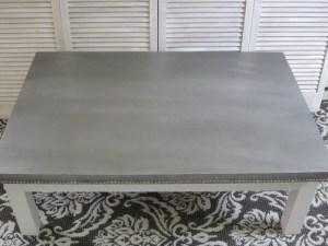 Faux concrète coffee table