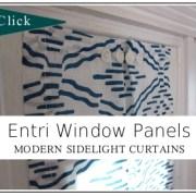 Entri Window Panels:  Modern Sidelight Window Curtains