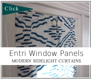 Entri Window Panels:  Modern Sidelight Window Curtains