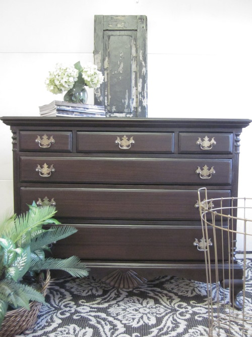 Antique Stained Dresser
