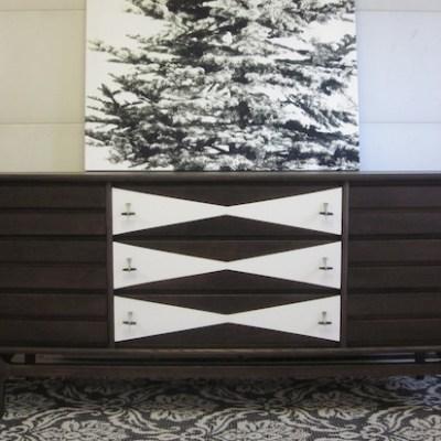 MCM Two-Tone Triple Dresser