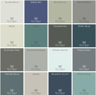 Pure & Original Classico color chart