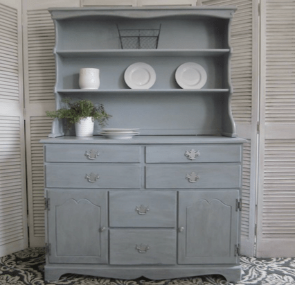 Blue Gray Rock Maple Hutch