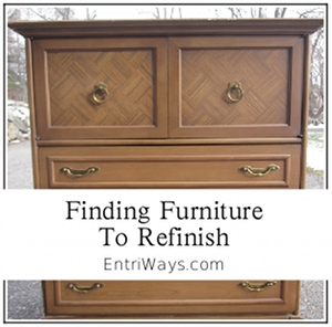 Finding Furniture to Refinish