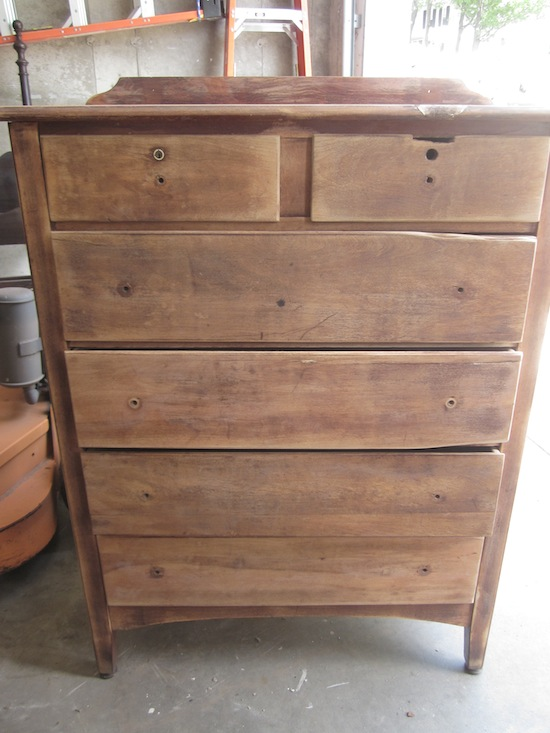 Tall antique dresser