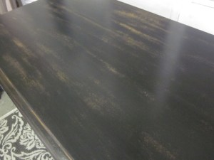 black distressed antique dresser