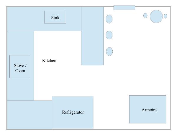 Colonial Kitchen floor plan