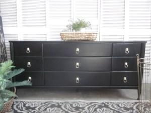 long black lion head dresser