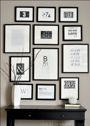 Gallery Wall, Source HOMED