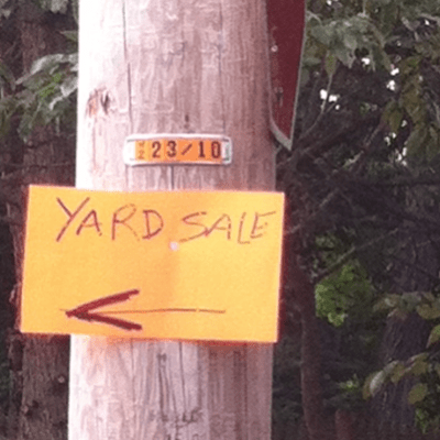 Successfully Advertise a Yard Sale