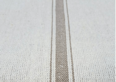 Grain sack fabric gray