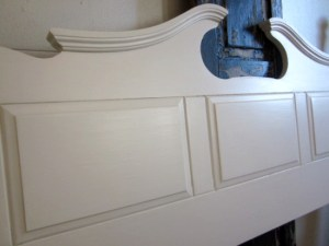 antique white queen full headboard