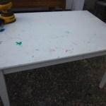 Kids White Table & Khaki Chairs