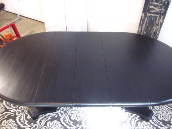 Black Oval / Round Dining Table