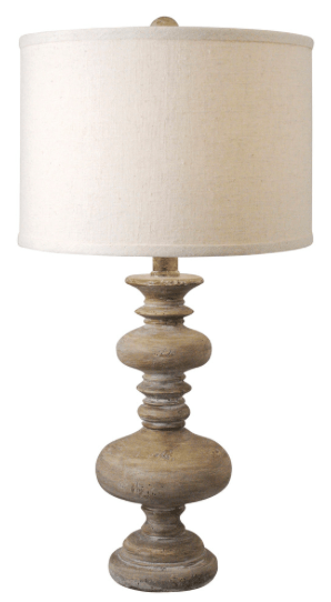 Banyan Global Bazaar Resin Spindle Table Lamp