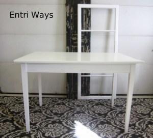 Small white table desk
