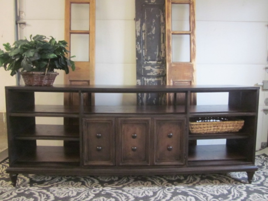 Media Console 2-sided expresso stained