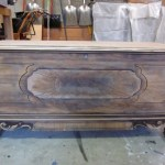 Blue Gray Entryway Storage Bench