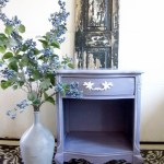 French Purple Lilac Nightstand
