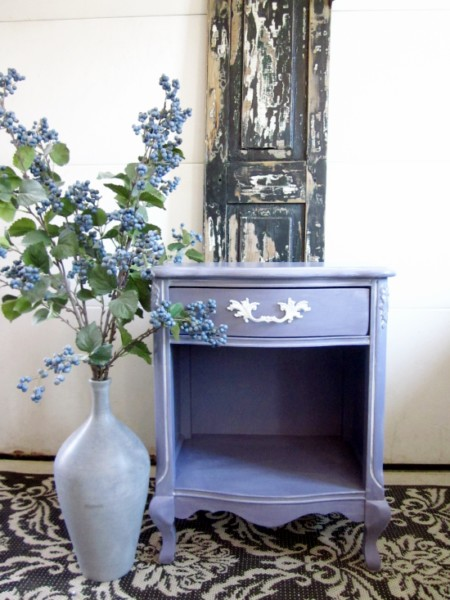 French Nightstand in Purple Lilac