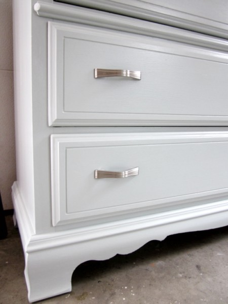 light blue with silver, Woodlawn Blue Dresser