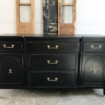 Black Stained Antique Buffet