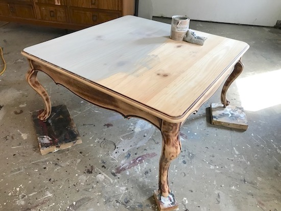 Popular square driftwood coffee table