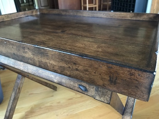 Dark Stained Tray Table