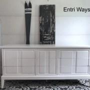 Dixie |  Long White MCM Dresser
