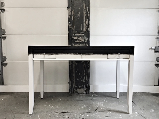 two-tone black & white desk